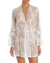 Jonquil Sutton Short Lace Robe Ivory