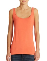 Lord And Taylor Iconic Fit Slimming Scoopneck Tank Coral Blush