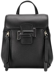 Tod's Flap Top Backpack Black