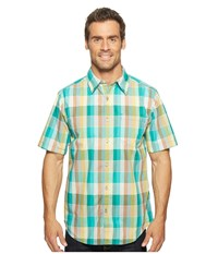 Marmot Cordero Short Sleeve Deep Teal Men's Short Sleeve Button Up Green