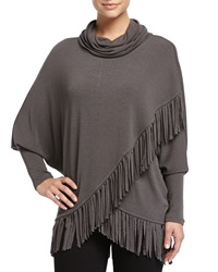 Chelsea And Theodore Jersey Fringe Trim Poncho Artist Gra