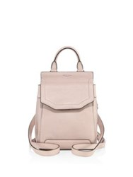 Rag And Bone Small Pilot Ii Leather Backpack Dusty Rose