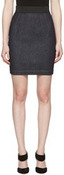 Dolce And Gabbana Navy Denim Miniskirt