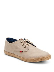 Ben Sherman Lace Up Espadrille Sneakers Off White