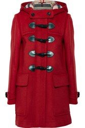Burberry Hooded Wool Felt Duffle Coat