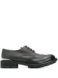 Alexander Mcqueen Chunky Sole Derby Shoes Black