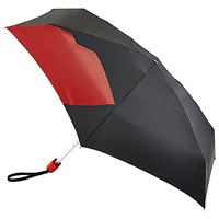 Lulu Guinness Abstract Lip Folding Umbrella Black Red