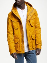 Scotch And Soda Waxed Cotton Hooded Jacket Ginger