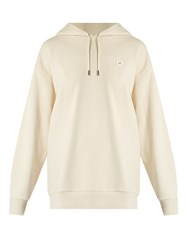 Acne Studios Yala Hooded Face Patch Cotton Sweatshirt White