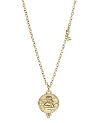 Temple St. Clair 18K Yellow Gold Angel Pendant With Diamonds Gold White