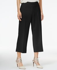 Bar Iii Wide Leg Cropped Pants Only At Macy's Deep Black