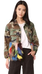 Harvey Faircloth Camo Multi Fur Jacket