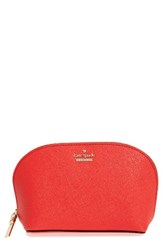 Kate Spade New York Cameron Street Small Abalene Leather Cosmetics Case Prickly Pear