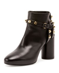 Balenciaga Studded Ankle Strap 80Mm Bootie Noir Women's