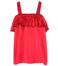 Edit Satin Top Red