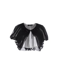 Clips Topwear Shrugs Women Black