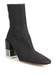 Maison Martin Margiela Trunk Glitter Booties Black