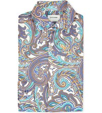 Duchamp Paisley Print Tailored Fit Single Cuff Shirt Multi