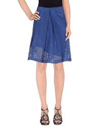 Soho De Luxe Skirts Knee Length Skirts Women Blue
