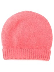 Roberto Collina Knitted Beanie Hat Pink And Purple