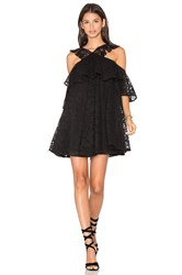Cynthia Rowley Lace Cold Shoulder Mini Dress Black