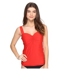 Athena Cabana Solids Chantele Underwire Tankini Top Persimmon Women's Swimwear Orange
