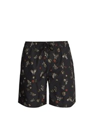 Saturdays Nyc Timothy Laquer Butterfly Print Swim Shorts Black Multi