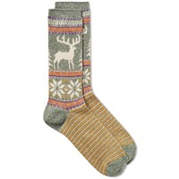 Anonymous Ism Deer Snow Jacquard Crew Sock Multi