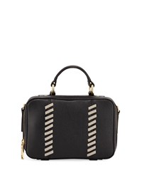 Milly Astor Small Whipstitch Satchel Bag Black