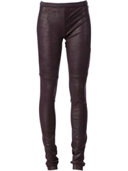 Ilaria Nistri Textured Leggings Pink And Purple