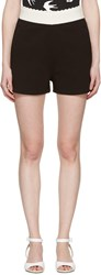 Mcq By Alexander Mcqueen Black Scalloped Lounge Shorts