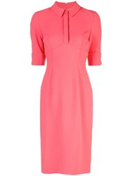Black Halo Fitted Shirt Dress Pink