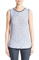 St. John Women's Collection Chambray Effect Links Knit Shell