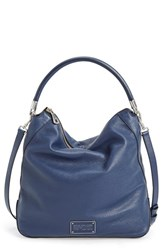 Marc By Marc Jacobs 'New Too Hot To Handle' Leather Hobo Blue Amalfi Coast