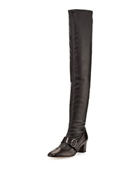 Zee Over The Knee Leather Boot Black Sjp By Sarah Jessica Parker