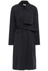 A.L.C. Woman Belted Twill Trench Coat Black