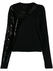 Rta Sequin Embellished Jumper Black