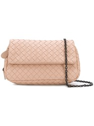 Bottega Veneta Intrecciato Nappa Baby Olimpia Bag Pink And Purple