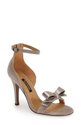 Women's Kay Unger 'Baroque' Ankle Strap Sandal Grey