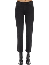 Frame Le Nouveau High Rise Stretch Denim Jeans Black