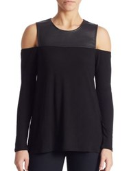 Bcbgmaxazria Shelly Cold Shoulder Top Black