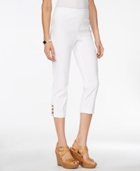 Jm Collection Petite Pull On Capri Pants Only At Macy's Bright White