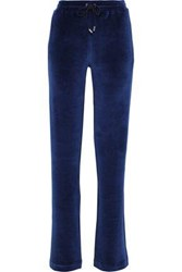 Versace Cotton Blend Velvet Track Pants Indigo