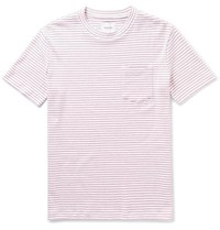 Steven Alan Striped Cotton Jersey T Shirt White