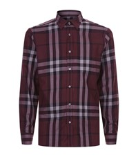 Burberry Crawfords House Check Shirt Male Red