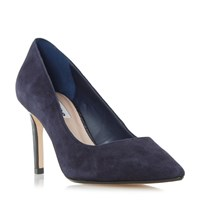 Dune Abbigal Pointed Toe Mid Heel Court Shoes Blue