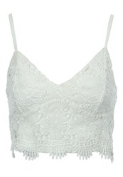 Jane Norman Crochet Bralet White