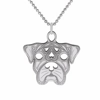 Cartergore Silver Boxer Pendant Necklace