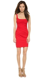 Susana Monaco Gathered Tank Dress Perfect Red