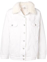 Natasha Zinko Oversized Denim Jacket White